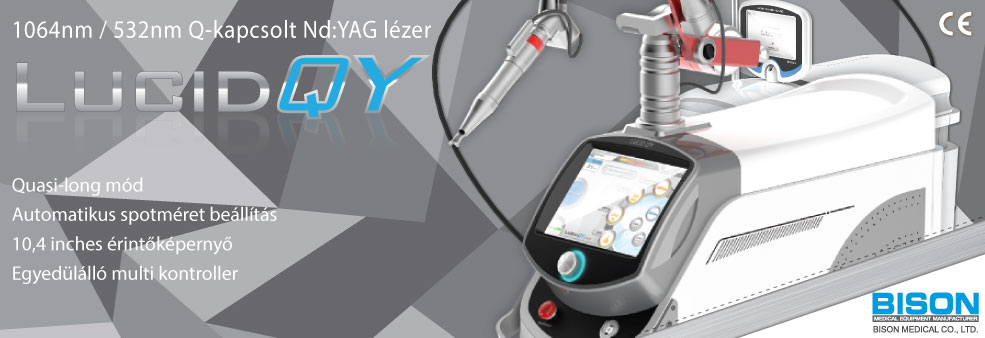 BISON Lucid QY 1064 nm / 532 nm Q-kapcsolt Nd:YAG lézer