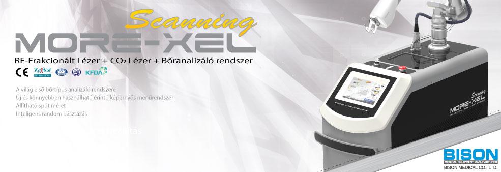 BISON More-Xel RF-frakcionált lézer + CO2 lézer